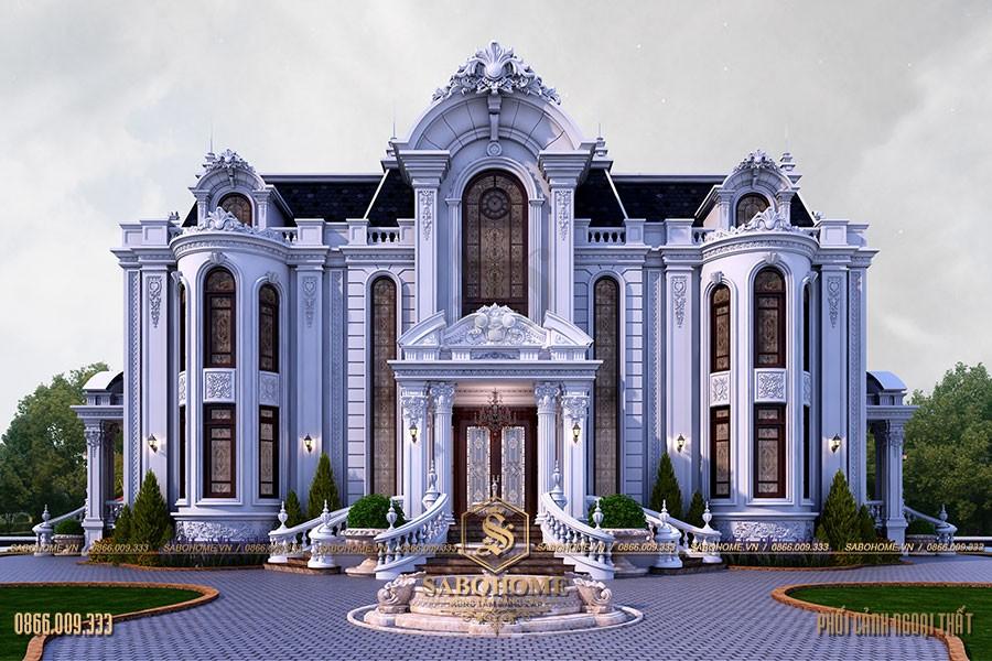 biệt thự cổ điển 2 tầng tráng lệ