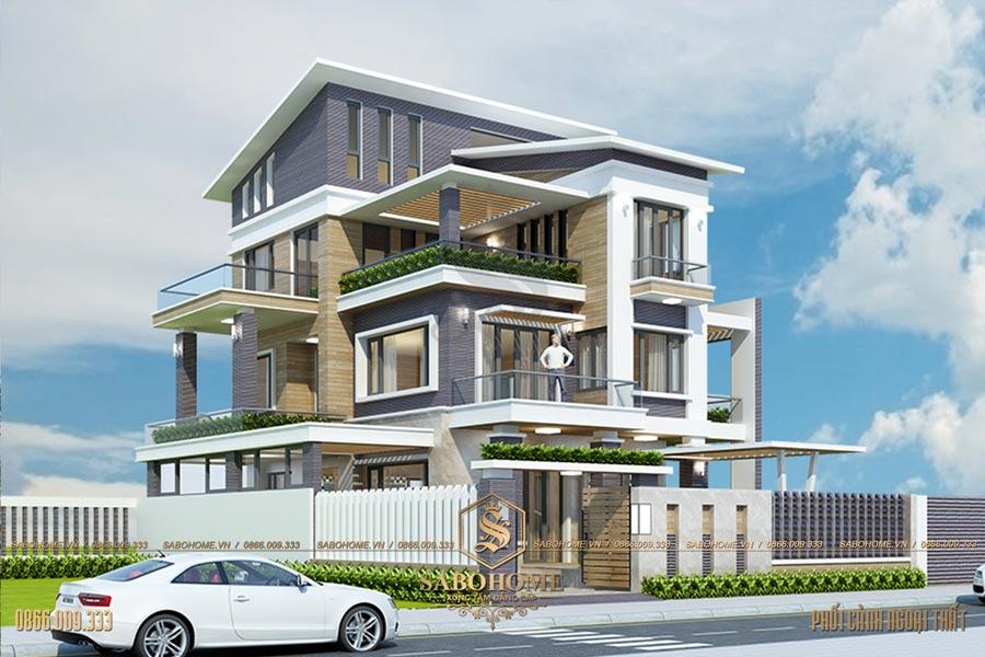 mẫu biệt thự 3 tầng hiện đại bt 2073