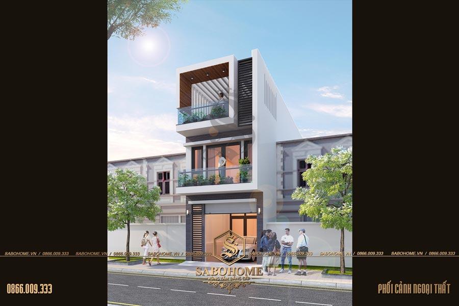 thiết kế nhà ông 3 tầng hiện đại bt 2072