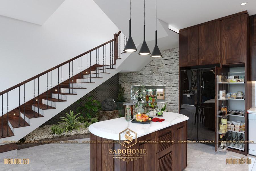 thiết kế phòng bếp ăn hiện đại bt 2063 04