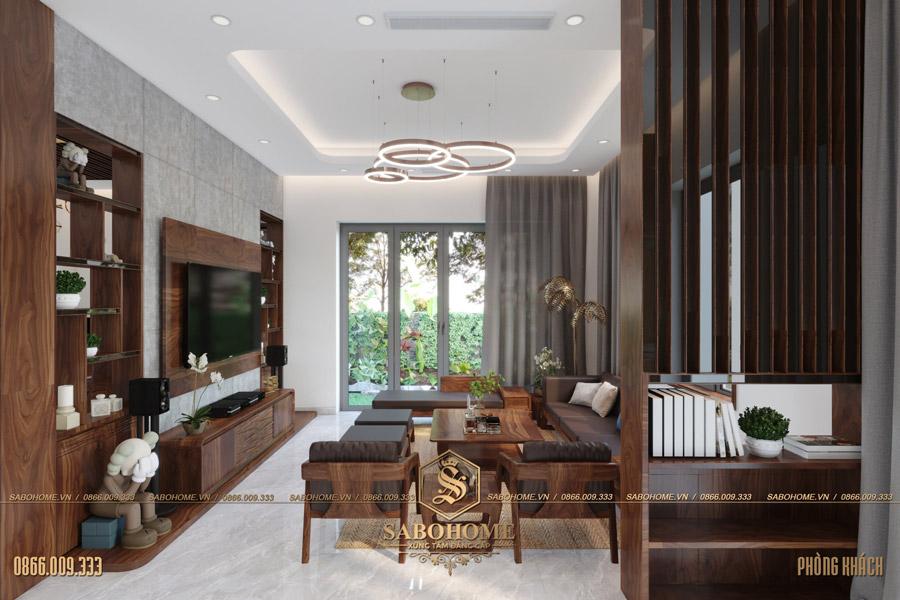 thiết kế nội thất phòng khách biệt thự hiện đại bt 2063 03