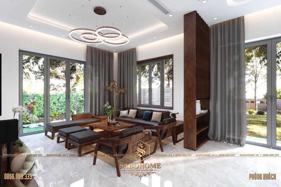 thiết kế nội thất phòng khách biệt thự hiện đại bt 2063 06