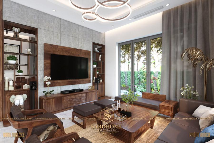 thiết kế nội thất phòng khách biệt thự hiện đại bt 2063 08