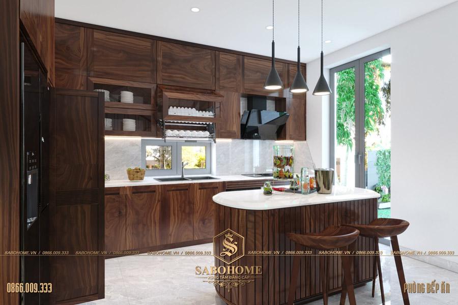 thiết kế phòng bếp ăn hiện đại bt 2063 06