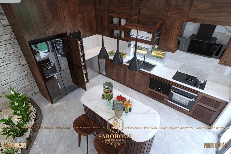 thiết kế phòng bếp ăn hiện đại bt 2063 09
