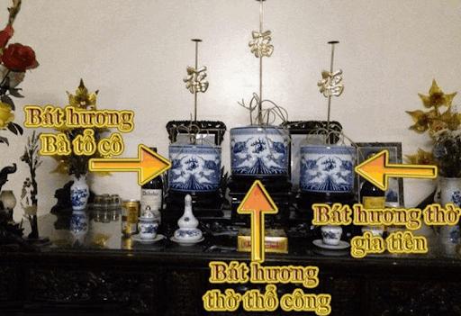 Hướng dẫn đặt Bát Hương đúng cách trên bàn thờ gia tiên - Gốm sứ Bát Tràng